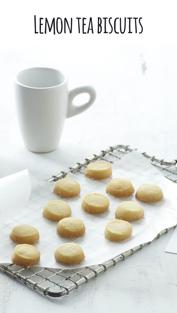 Lemon Tea Biscuits: Enjoy these craveworthy, buttery, delicious cookies with tea or even coffee!