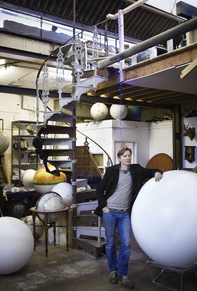 "Liz Stinson, ""Meet the Craftsman Who Makes the World's Coolest Globes,"" WIRED (14 October 2013). http://www.bellerbyandco.com/"