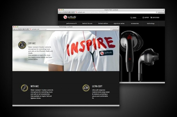 Yurbuds Website / Ecommerce / Web Design  #ecommercewebsite by http://www.techidea.co.nz/
