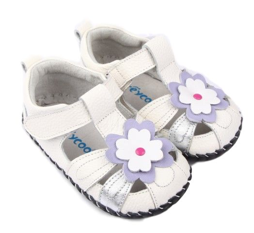 White and Metallic Silver Summer Sandals For Baby | Aria Baby Girl Shoes Will be a Summer Hit | Affordable Baby Shoes
