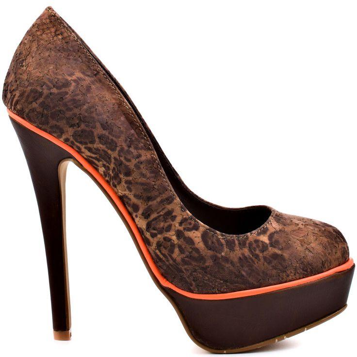 Orange Brown Shoes
