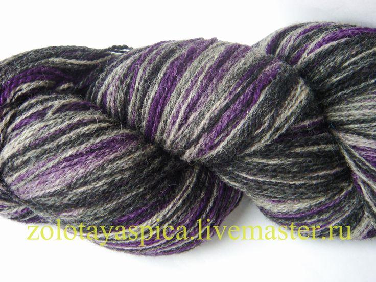пряжа для вязания Кауни Black lila