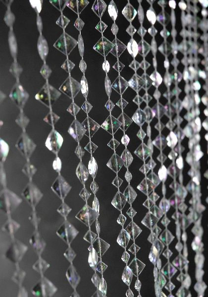 Iridescent Crystal Beaded Curtains 6ft Cakes Closet And