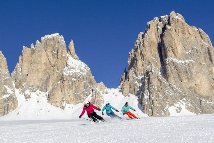 Sella Ronda. Ski tour of the four Dolomite Passes around the Sella massif. Setting off from Val di Fassa, from Canazei and Campitello