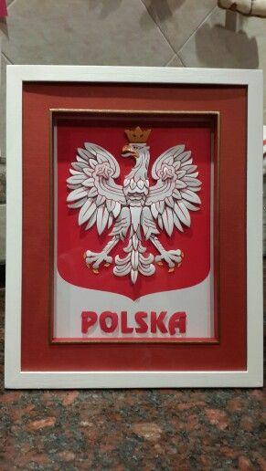 Arte francés en escudo de Polonia