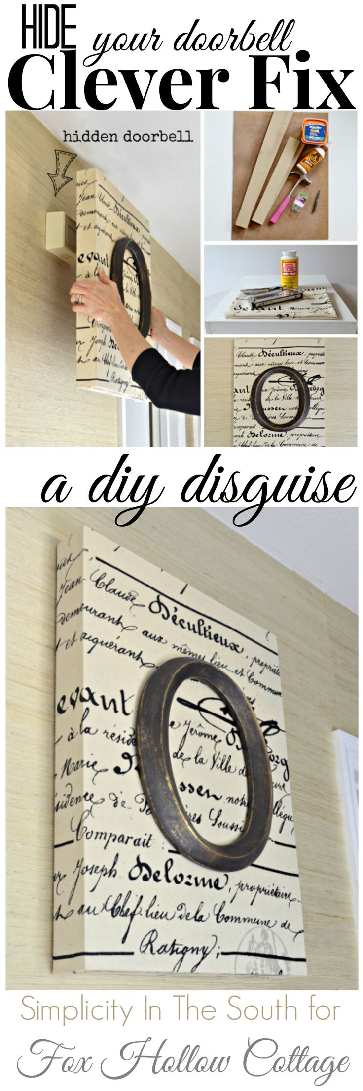 Diy Monogram Art - Doorbell Disguise Fox Hollow Cottage