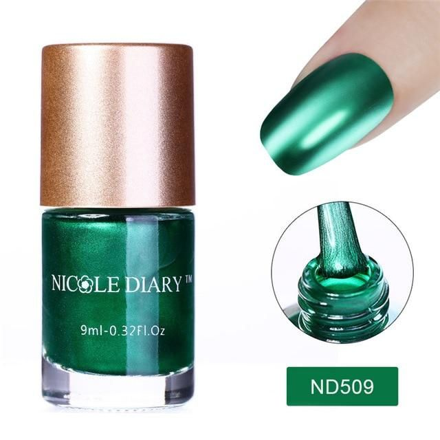 NICOLE DIARY 9ml Nail Polish Varnish Metallic Mirror Effect Matte Dull Series Po…
