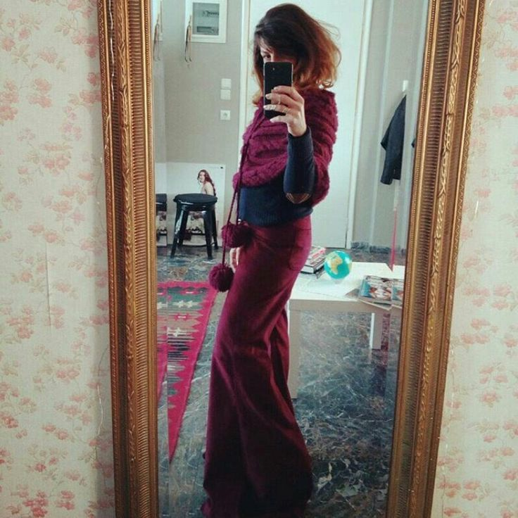 """The corduroy Bell bottoms in """"Berry"""".Get em 30%OFF! Hurry up! 🎉"""