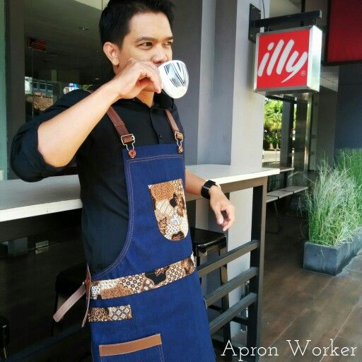 Dreams don't work unless you do  Apron barista × Batik First design by @apron_worker Check out our account instagram @apron_worker for more detail #apron #barista #baristaapron