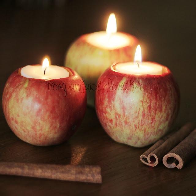 de Panka con el amor: DIY candelabros de manzana