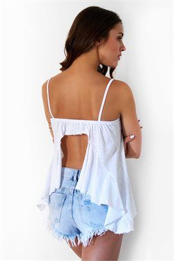 Backless Graphic Top - ΡΟΥΧΑ -> Μπλούζες | Made of Grace