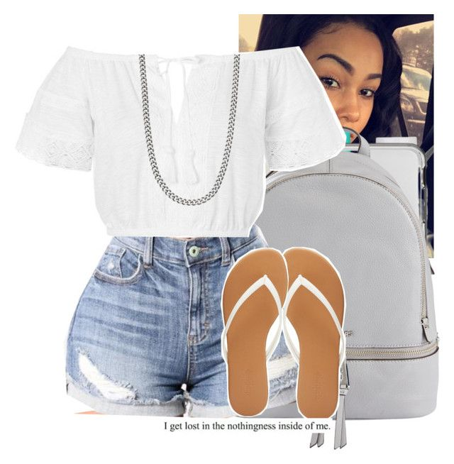 """""""school- Nessa"""" by th3-qu33n-25 ❤ liked on Polyvore featuring Vaseline, Lancôme, MICHAEL Michael Kors, Topshop and Charlotte Russe"""