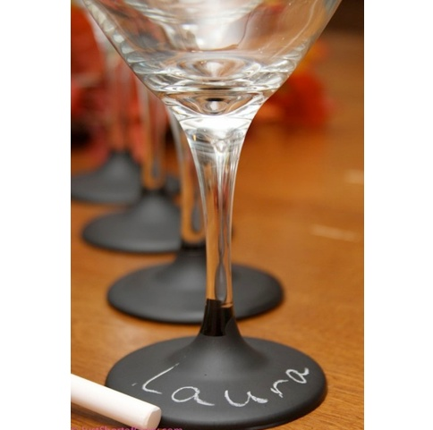 Wine glasses that say Laura.  Love.