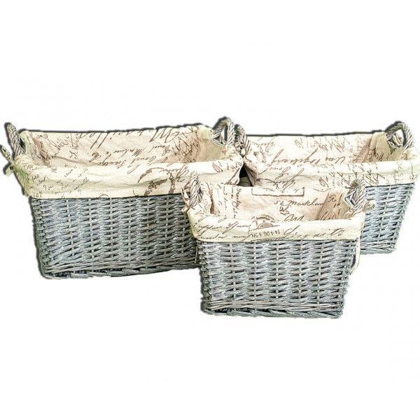 Set de cestas de mimbre   49,80€