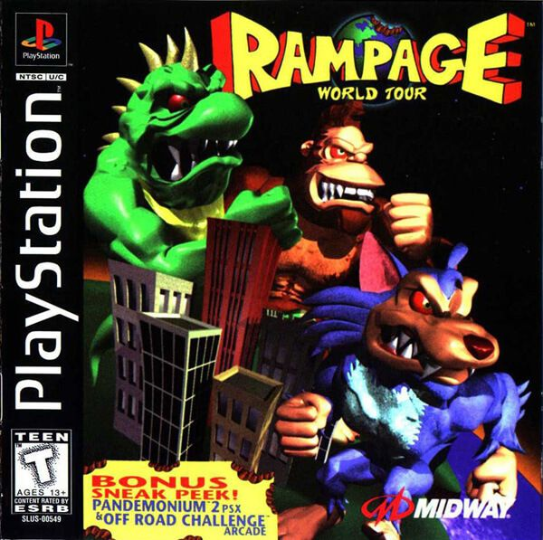 Rampage World Tour Ntsc Ingles Psx Playstation Games