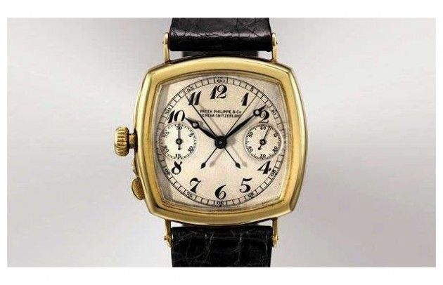 Patek Philippe The Grogan (1925) (1,945,040) Patek Phillippe's iconic gold chronograph watch is one of the first watches made by a lefty.