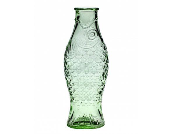 Botella 1 l transparente verde