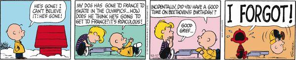 Peanuts Comic Strip, December 17, 2014 on GoComics.com