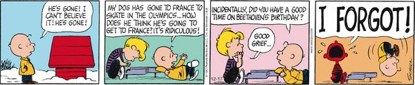 Peanuts Comic Strip, December 17, 2014 on GoComics.com