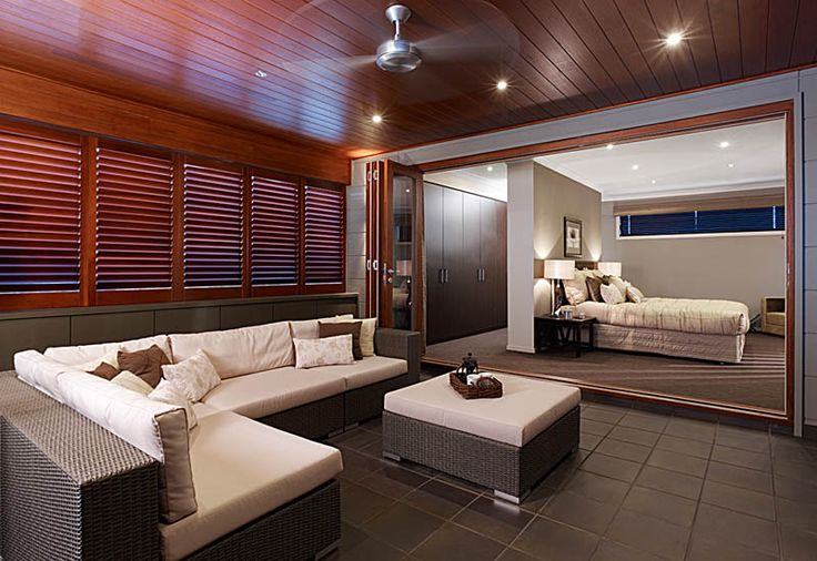 Love this outdoor deck off the master bedroom