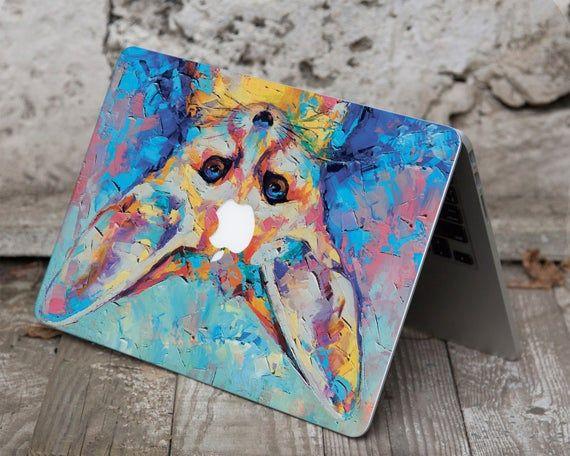 Fox Fennec Macbook Air 13 Decal Art Painting Macbook Air 11 2018 Skin Watercolor Macbook Pro 13 2019