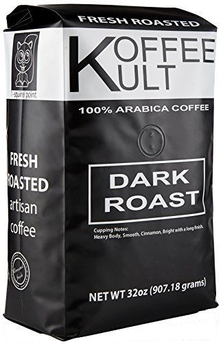 Koffee Kult Dark Roast Coffee Beans (2 Pounds Whole Bean) Highest Quality Delicious Organically Sourced Fair Trade - Whole Bean Coffee - Fresh Coffee Beans - http://teacoffeestore.com/koffee-kult-dark-roast-coffee-beans-2-pounds-whole-bean-highest-quality-delicious-organically-sourced-fair-trade-whole-bean-coffee-fresh-coffee-beans/