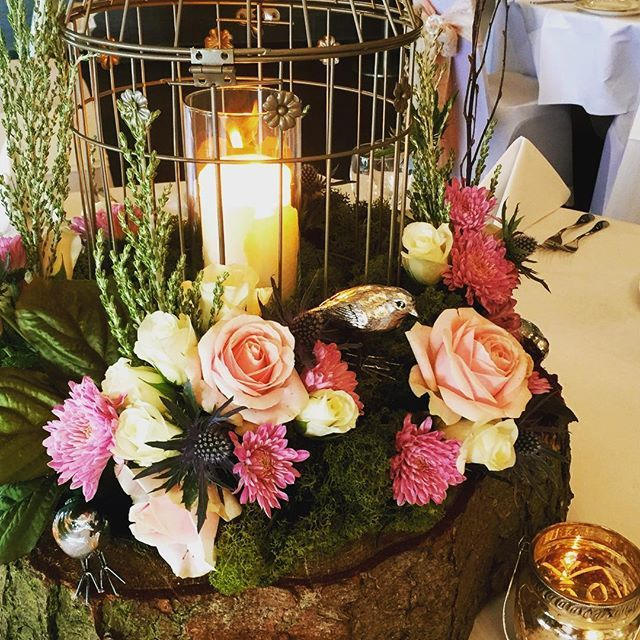 Enchanted woodland centrepiece #sensationaleventsuk #weddinginspiration #weddingdecor #weddingcenterpiece #woodlandwedding