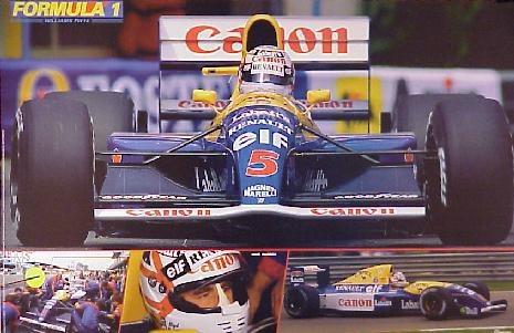 """Mi otro ídolo en la F1. Con todos ustedes Nigel Mansell, """"El León"""", campeón del mundo de F1 en el año 1992. Valiente y agresivo donde los haya. Todo pundonor."""