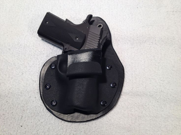 "Kimber Ultra carry II IWB holster paddle 1911 3"" inside waist band leather kydex #MTOHolster #InsideWaistbandIWB"