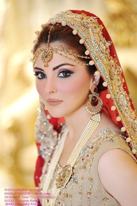 Simple yet elegant Bridal make over Indian/Pakistani