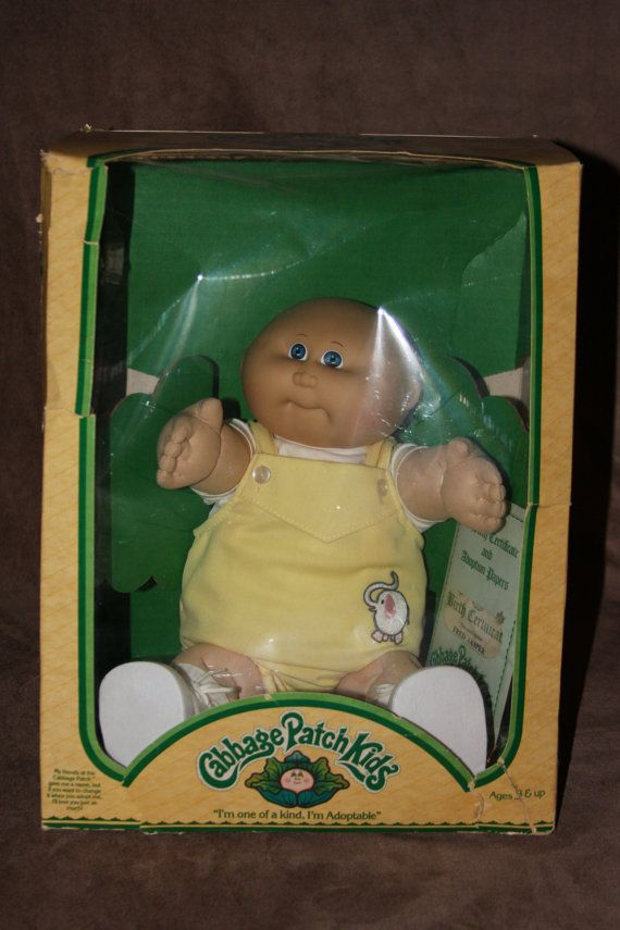Vintage 1983 Coleco Cabbage Patch Doll in Original Box with Papers by Xavier Roberts on Etsy, $30.00