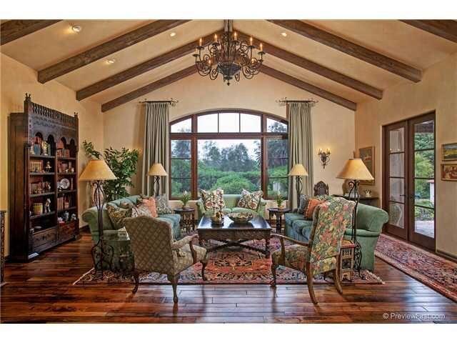 Living Room, Love the window treatments. | Spanish Style ...