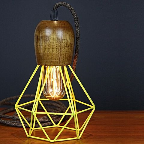 Renew your look with the retro colour and Scandinavian maple tones of the Woodsman Pendant Light, Yellow from Empirical Style.