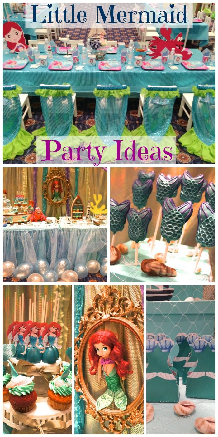 Gorgeous Little Mermaid party ideas! See more under the sea and princess party ideas at CatchMyParty.com.