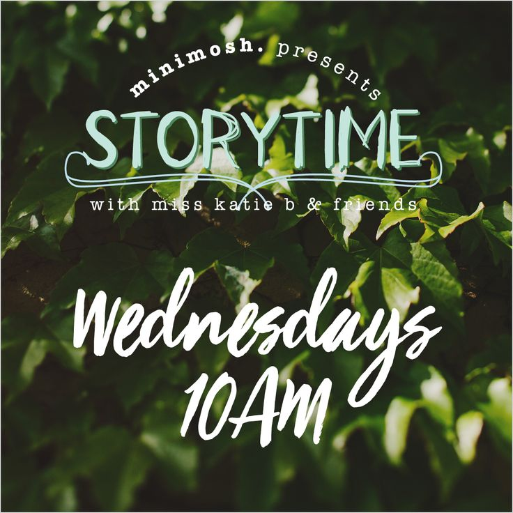 MINIMOSH KIDS - Storytime in the front lawn of Newrybar Merchants at 10am every Wednesday!