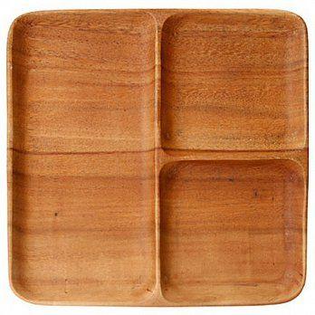 [MUJI 無印良品]木製分隔方盤/大  定價:600元