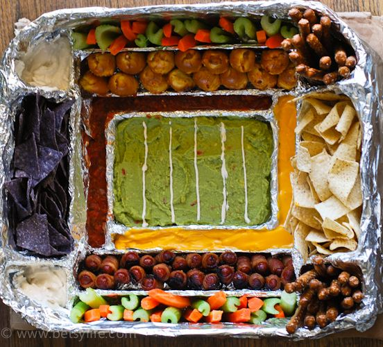 How to build a snack stadium  Superbowl party