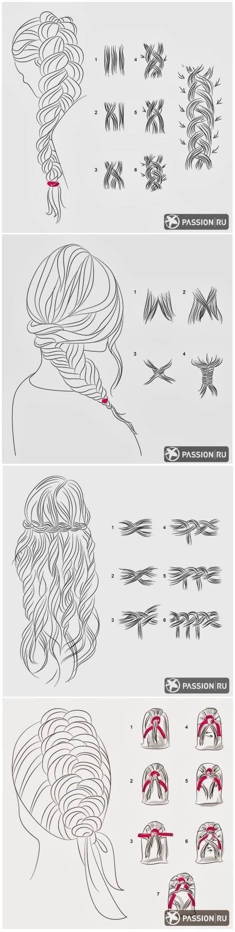 Easy braid tutorials