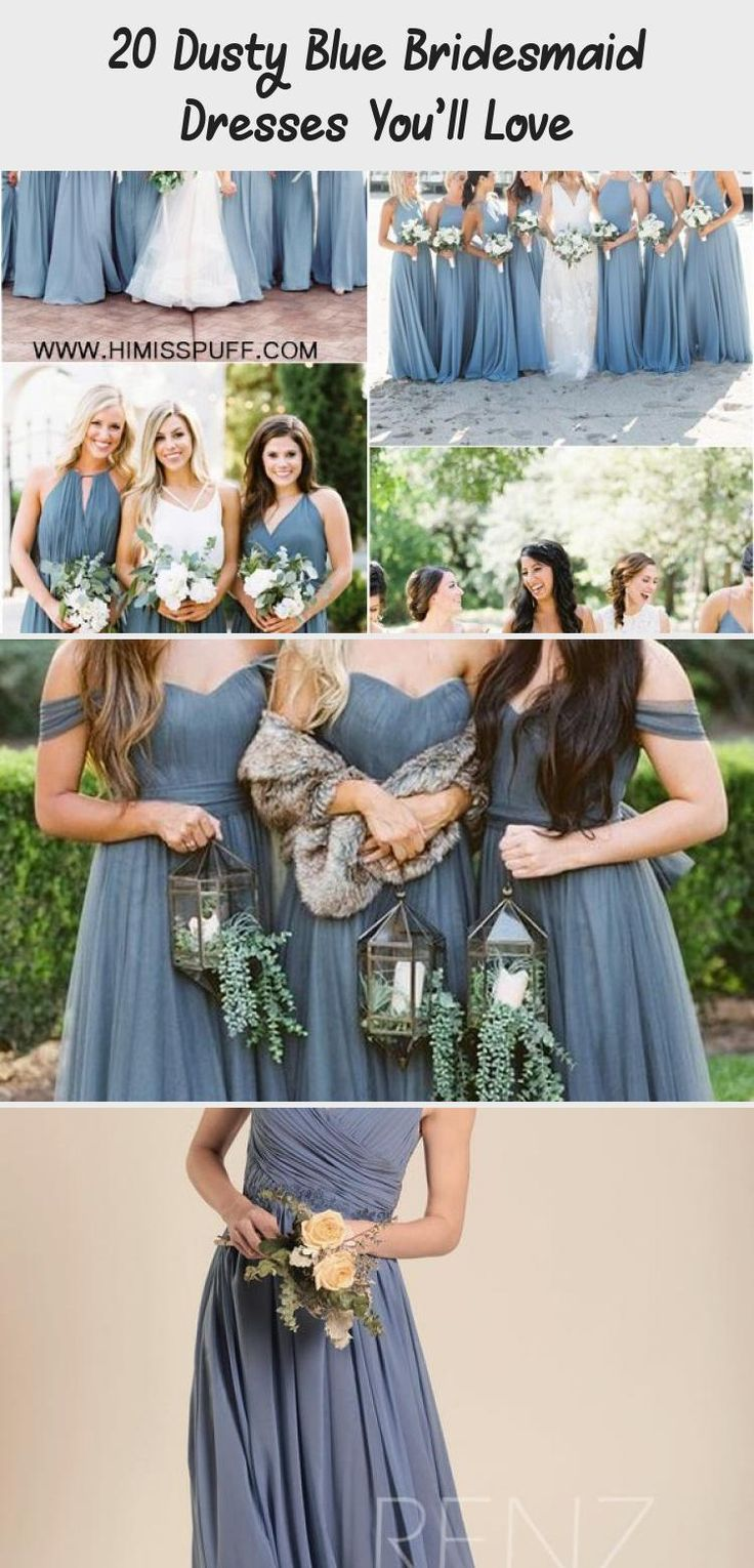 dusty blue wedding color ideas - dusty blue bridesmaid dresses  #weddings #wedding #blueweddings #weddingcolors #weddingideas #dustyblue #beautiful #dresses #bridesmaid #CheapBridesmaidDresses #BridesmaidDressesMint #BridesmaidDressesNavy #BridesmaidDressesWithSleeves #DavidsBridalBridesmaidDresses