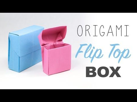 Origami Flip Top Box Tutorial - YouTube
