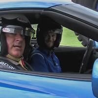 Storm Tracker Jim Cantore test drives a Corvette to test out Michelin tires. See how fast he goes!