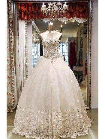 Gorgeous Rhinestone Luxury Wedding Dress   I Love Weddings!   Pinterest   Wedding dresses, Wedding and Luxury wedding dress