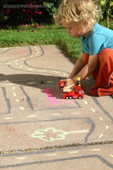 Stoepkrijt spelletjes autoweg I Creatief lifestyle blog Badschuim