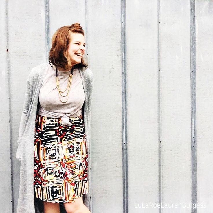 Burgess Sarah About Teacher: LuLaRoe Classic Tee Layered Over A LuLaRoe Carly Dress And