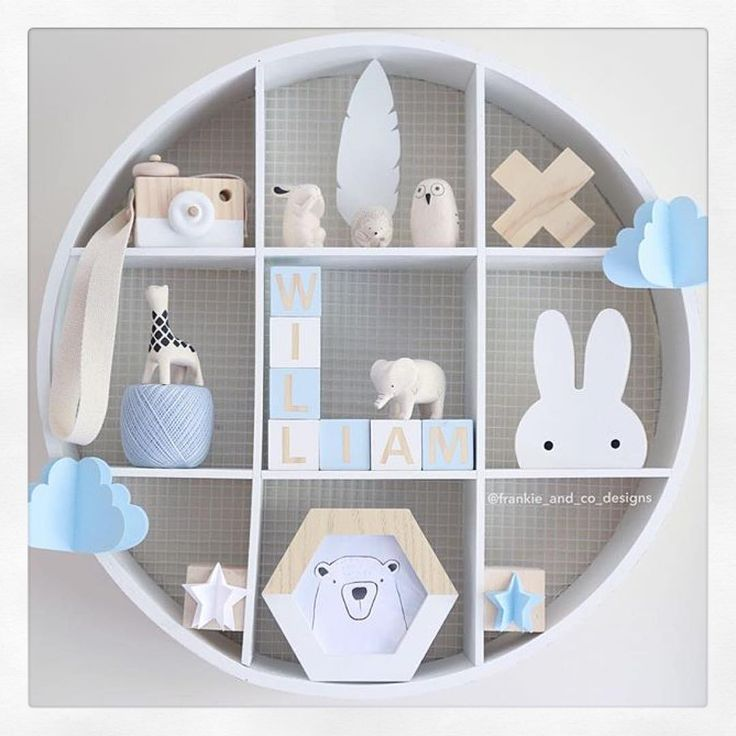 """I love how @frankie_and_co_designs has done a #kmarthack (painted it white) on her Kmart round shelf to create this very cute #shelfie . She is also…"""