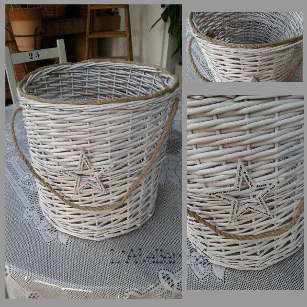 1000 ideas about panier linge osier on pinterest. Black Bedroom Furniture Sets. Home Design Ideas