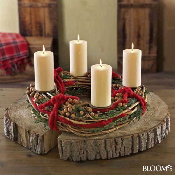 Holz - wood candel centerpiece