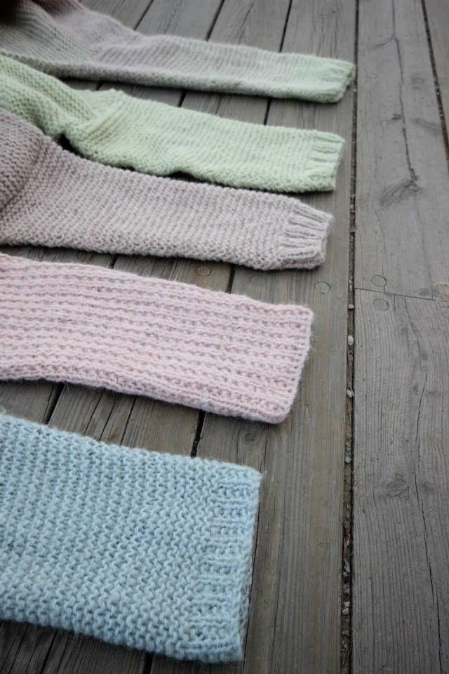Skappelgensere i vårens farger 2014 #skappel #sandnesgarn #strikk #knit