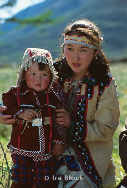 Siberian Mother & Child