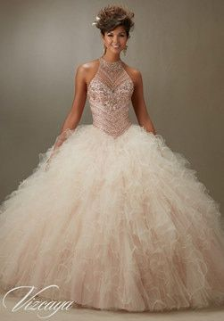 06ffb72ed8d Quinceanera Dress Red Jeweled Beading On A Ruffled Tulle Ball Gown ...